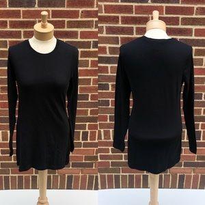 cabi Long Sleeve #3059 Black Tunic Top Size M